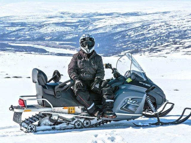 On-snowmobile