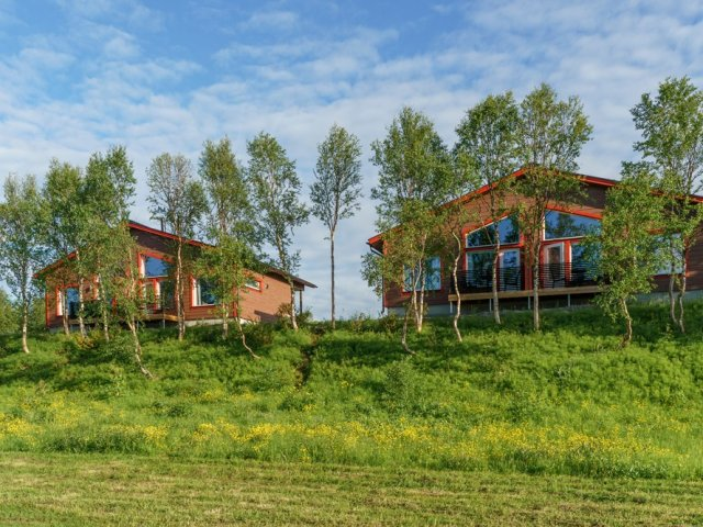 Nuorgam Holiday Village superior riverside cabin bedroom